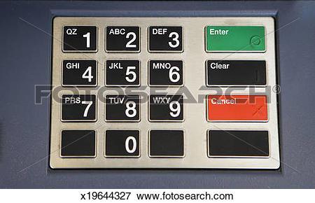 Picture of cash machine key pad x19644327.