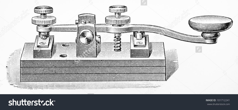 Telegraph key clipart.