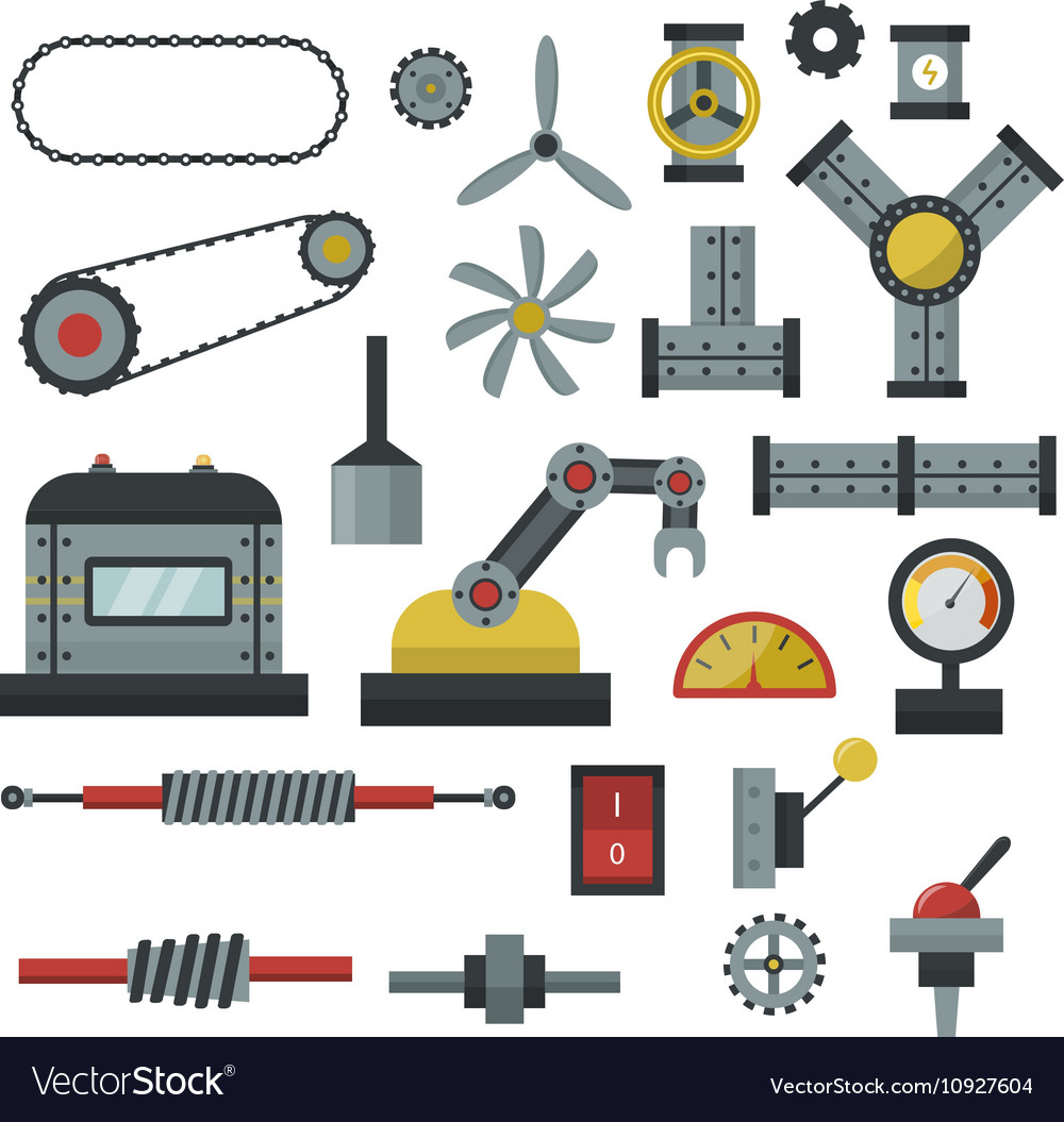 Machine parts.