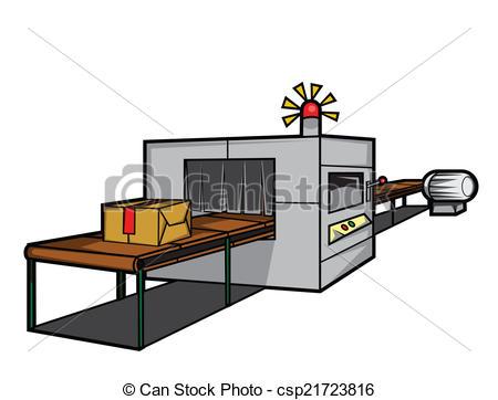 Vector Clip Art of Production Machine csp21723816.