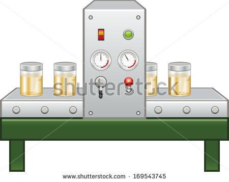 Production Line Stock Vector Illustration 169543745 : Shutterstock.