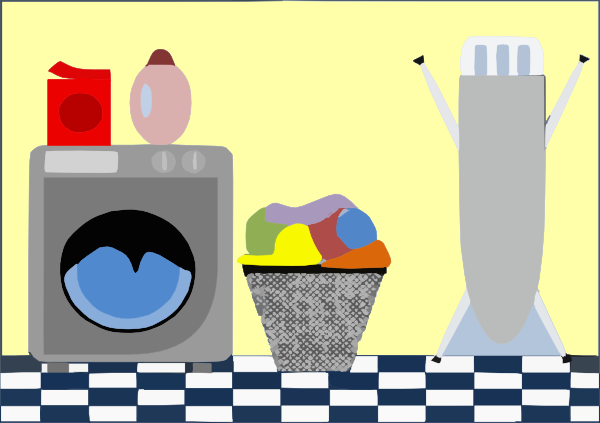 Laundry room clipart.