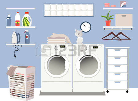1,533 Laundry Room Stock Vector Illustration And Royalty Free.