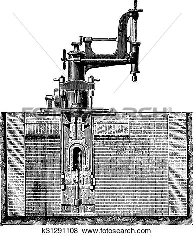 Clip Art of Drill machine room of a hub and place the wheel box.
