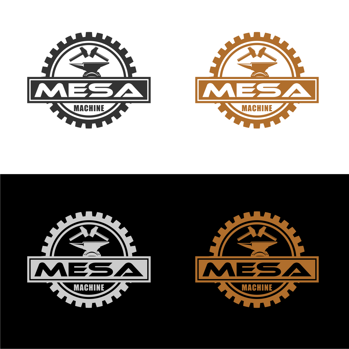 Serious, Masculine, Shop Logo Design for Mesa Machine by.