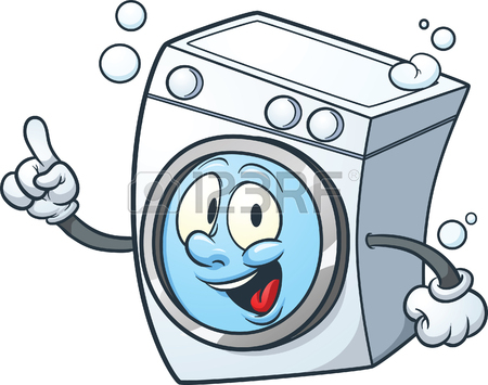Cartoon Washing Machine. Clip Art Illustration With Simple.