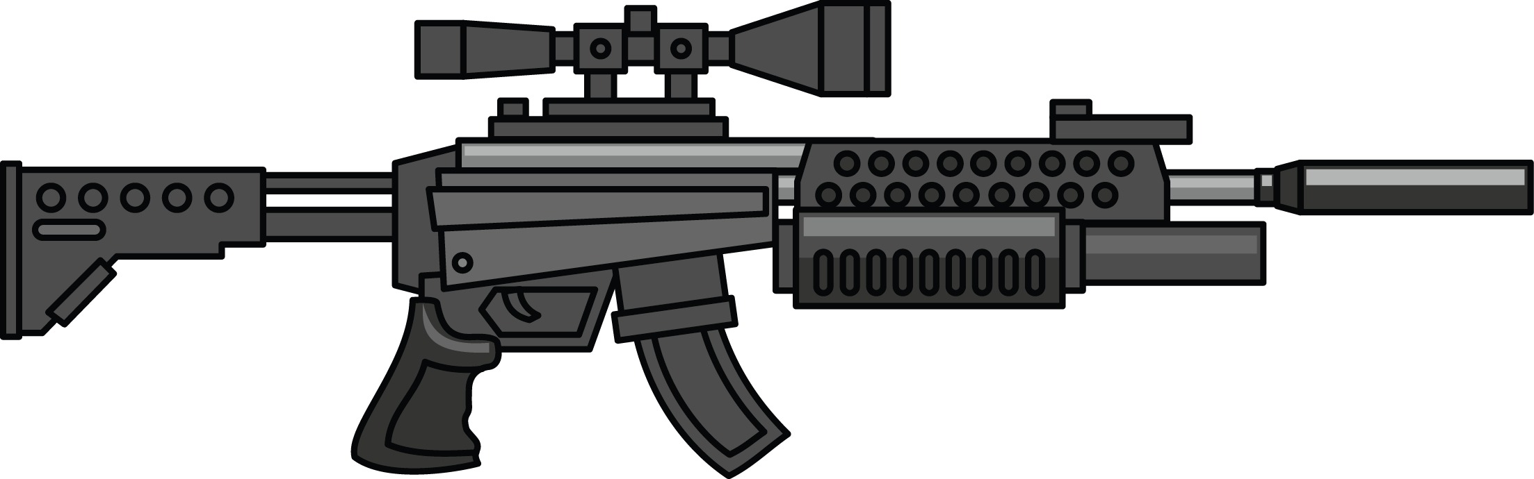 Machine Gun Clip Art.
