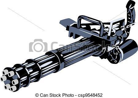 Clipart Machine Gun.