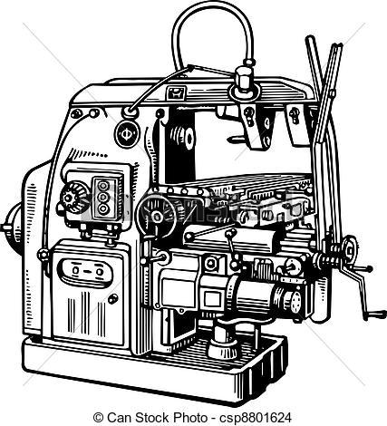 EPS Vector of Machine tool.