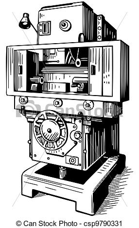 Vector Clip Art of Machine tool.
