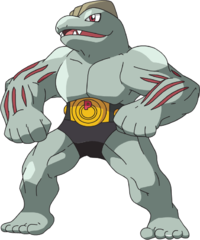 I just realized Machoke is like born with clothes.