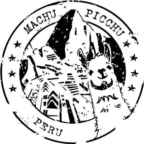 Machu Picchu Peru Travel Stamp Sticker.