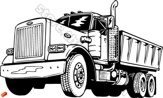 Mack Dump Truck Clip Art.