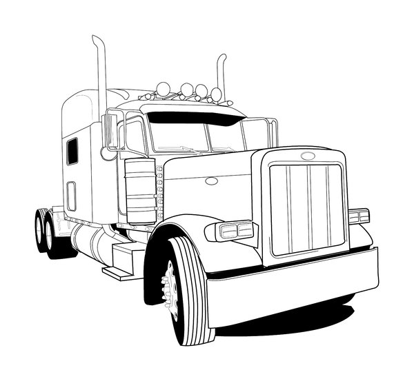 Mack Truck Drawings.