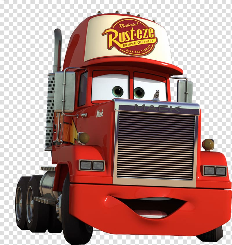 Disney Cars Mack The Truck illustration, Lightning McQueen.