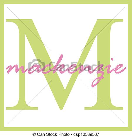 Stock Illustration of Mackenzie Name Monogram.