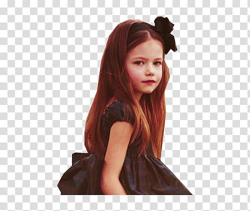 Mackenzie Foy , girl wearing black dress transparent.