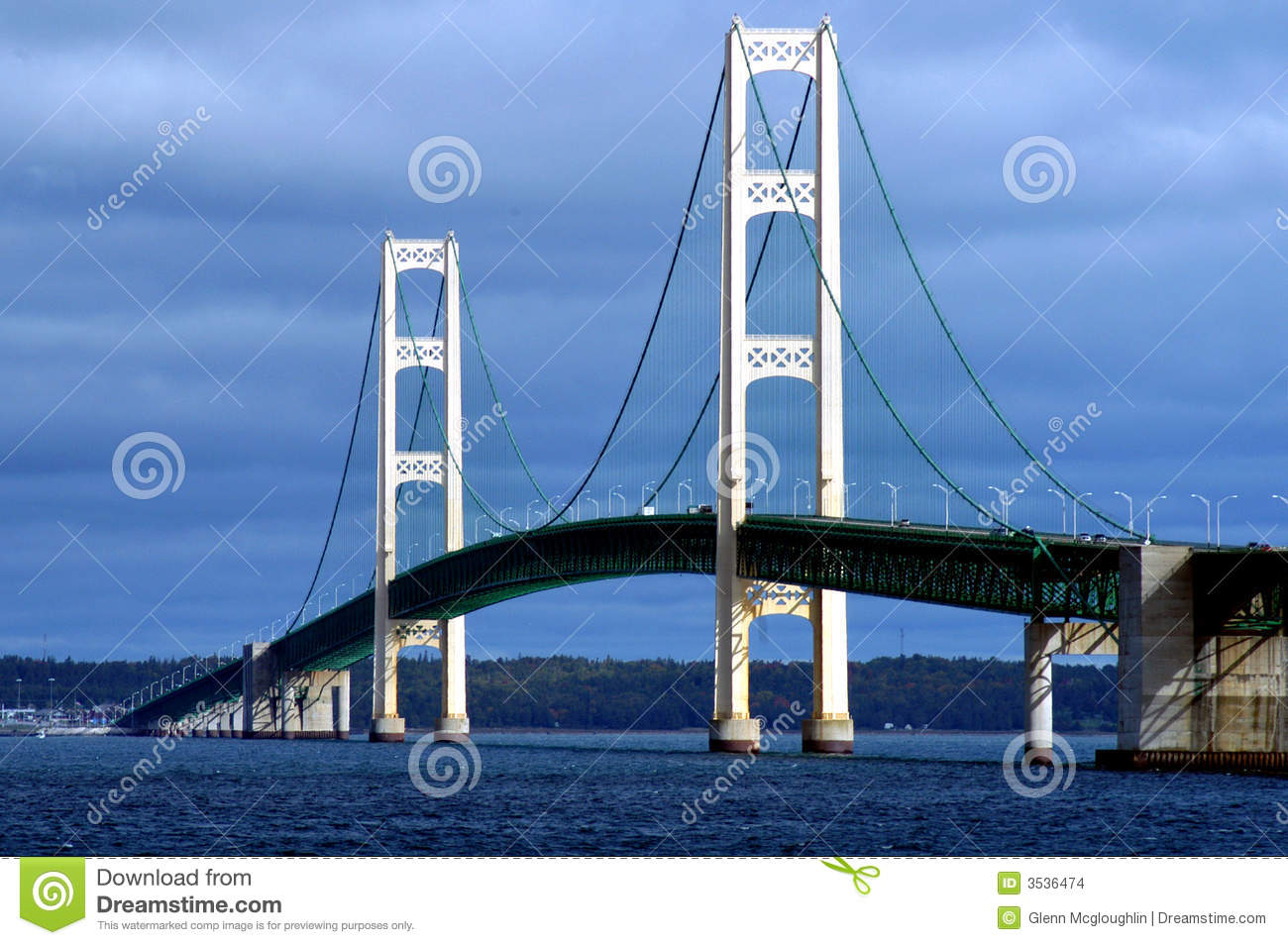 Mackinac Bridge Stock Images.