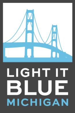 WINTER RAMBLINGS: Light it Blue Mackinac Bridge!.
