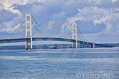 Mackinac Bridge Royalty Free Stock Photos.