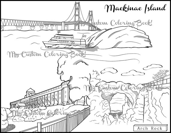 Download Mackinac Island Coloring Page by MyCustomColoringBook.