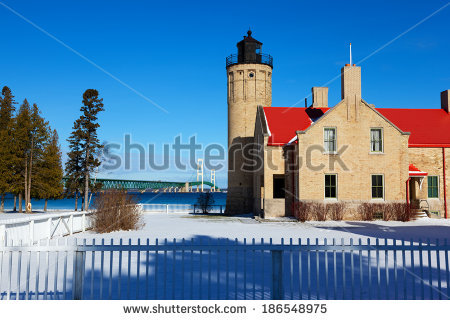 Michigan City Lighthouse Stock Photos, Royalty.
