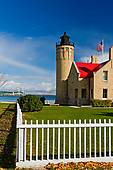 Pictures of lighthouse, Mackinaw City, MI, Michigan, Old Mackinac.