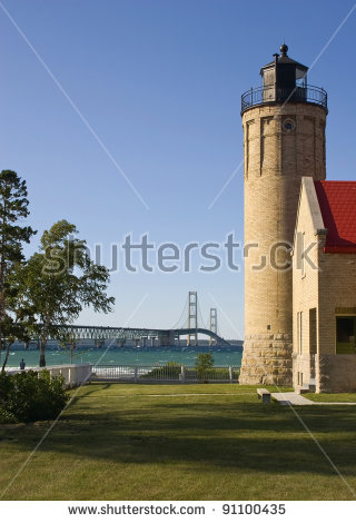 Mackinaw Bridge Stock Photos, Royalty.
