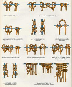 diffrent types of knots.