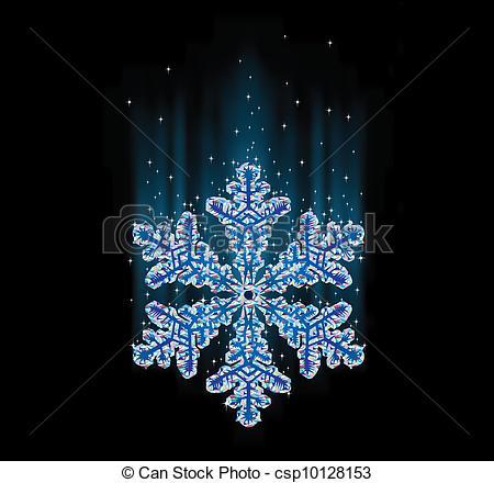 Clipart Vector of natural snowflake macro csp10128153.
