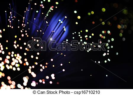 Stock Photography of fiber optic light effect.