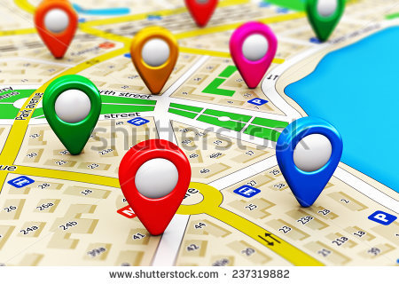Gps Satellite Navigation Travel Tourism Location Stock.