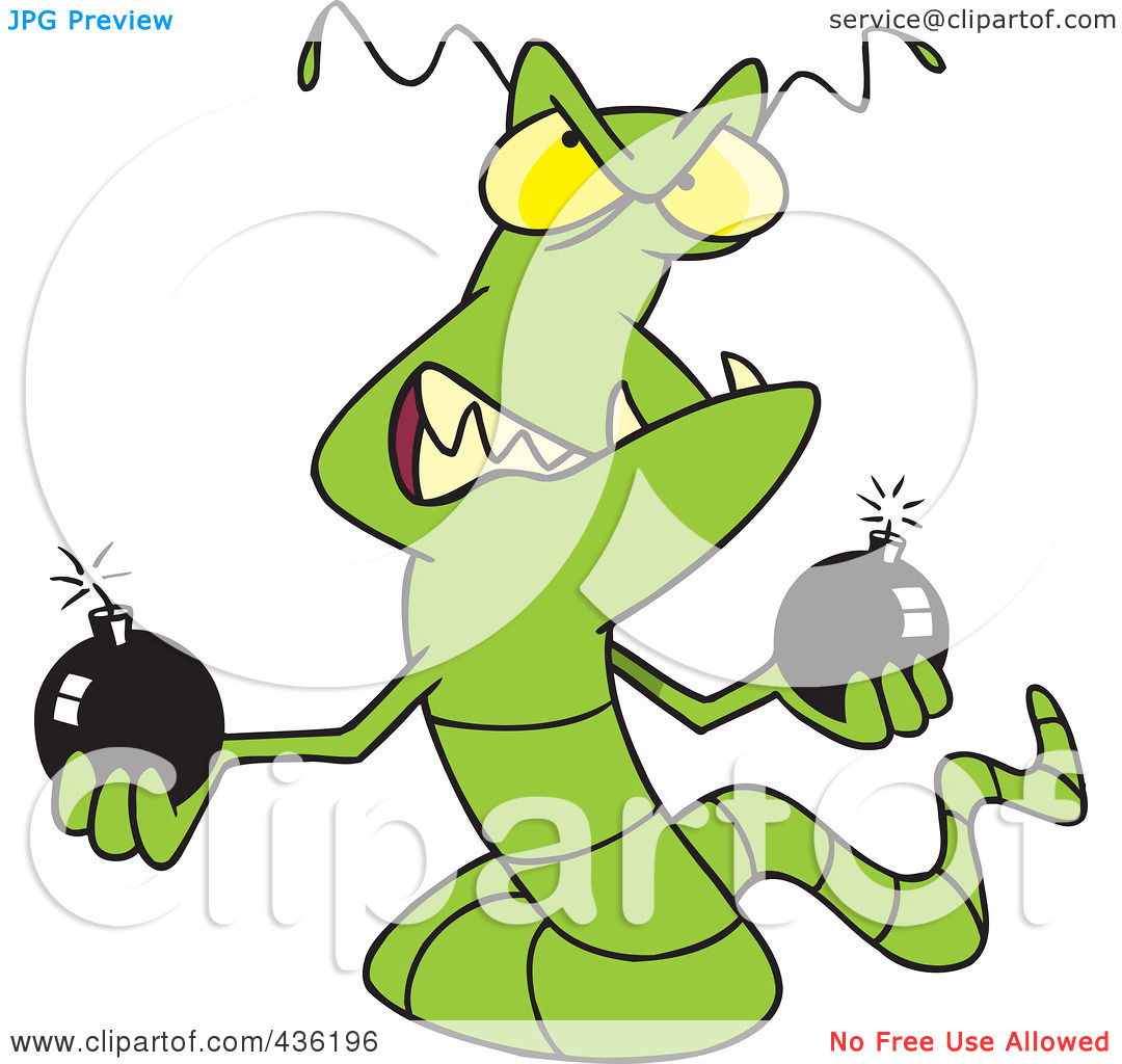 Macro Viruses Clipart.