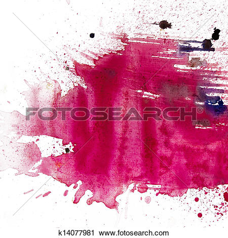 Clipart of macro texture watercolor spot blotch is isolated on a.