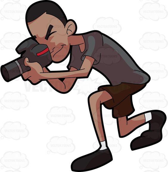 A Man Shooting A Macro Photo.