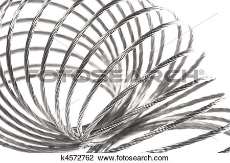 Stock Photo of Metal Spring Macro Isolated k4572762.