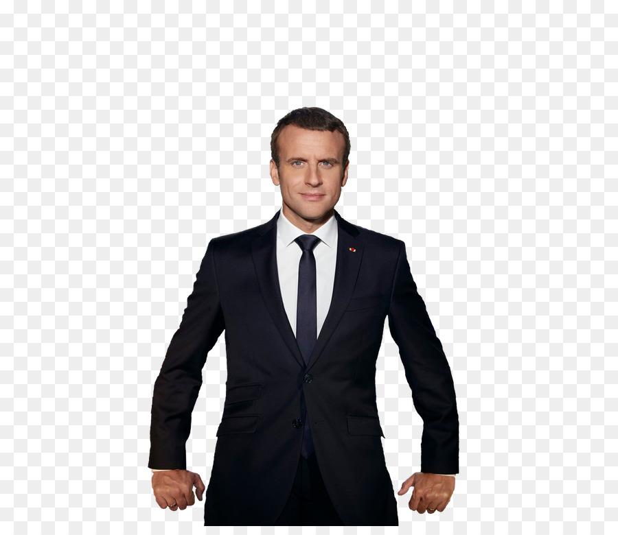 Emmanuel Macron Suit png download.