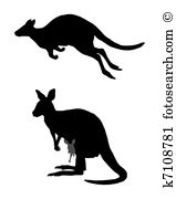 Macropodidae Clipart and Illustration. 14 macropodidae clip art.