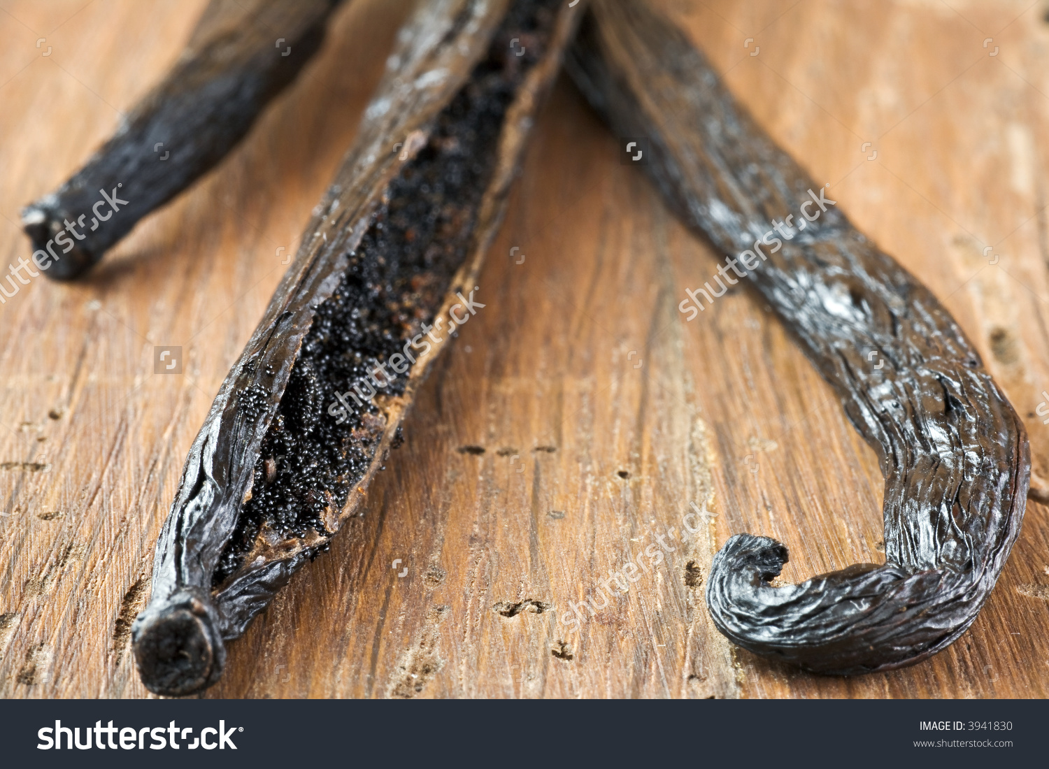 Fresh Vanilla Bean. Macro, Short Focus. Stock Photo 3941830.
