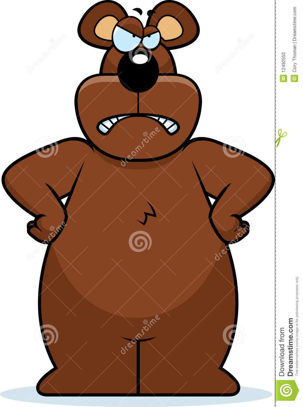 Mad Bear Clipart.