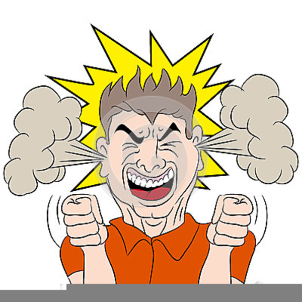 Mad Boy Clipart.