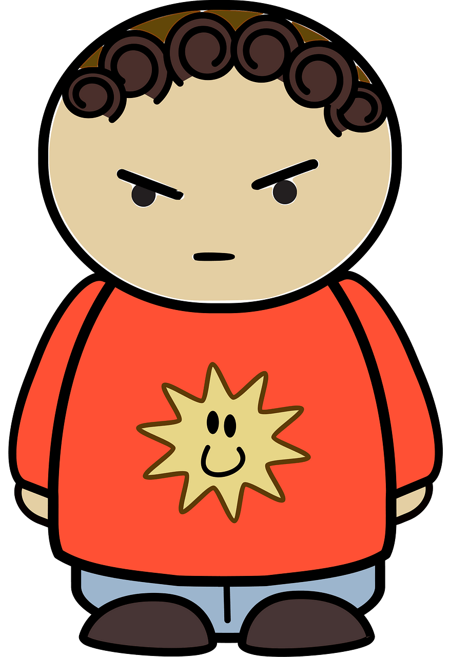 Mad boy clipart. Free download..