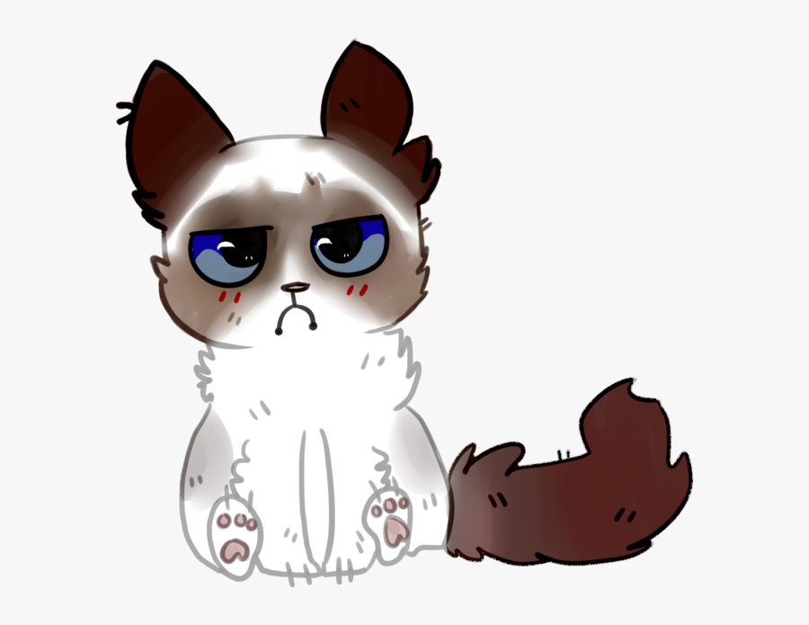 Grumpy Cat Drawing Cartoon.