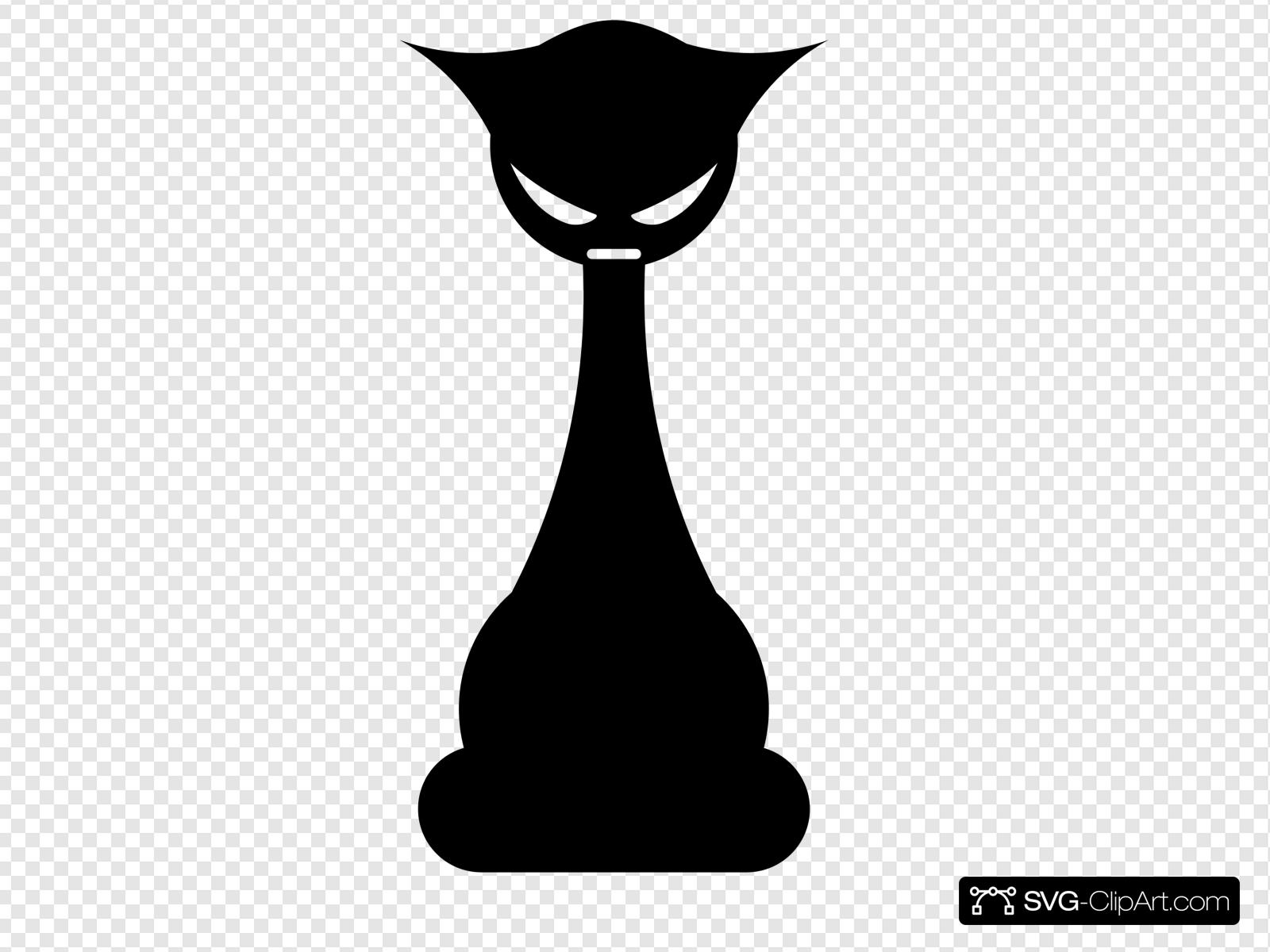 Mad Cat Clip art, Icon and SVG.