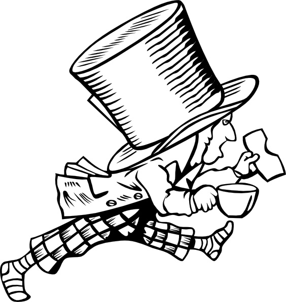 Mad Hatter clip art Free vector in Open office drawing svg ( .svg.