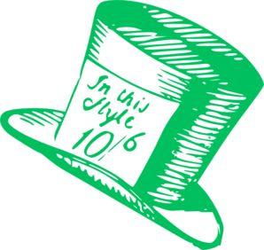 Mad Hatter Hat clip art.