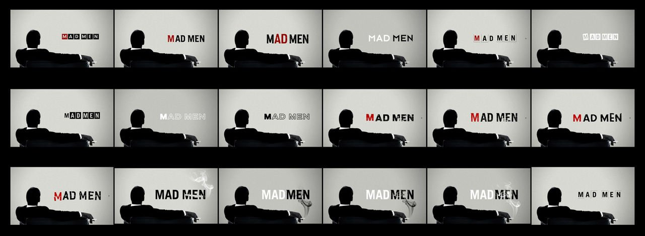 Mad Men logo evolution before it was finalized : madmen.