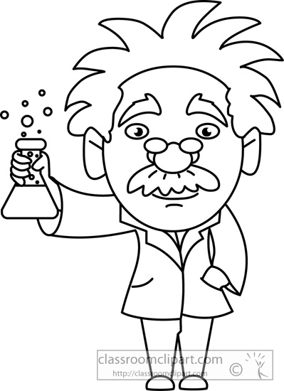 Mad Scientist Clipart Black And White.