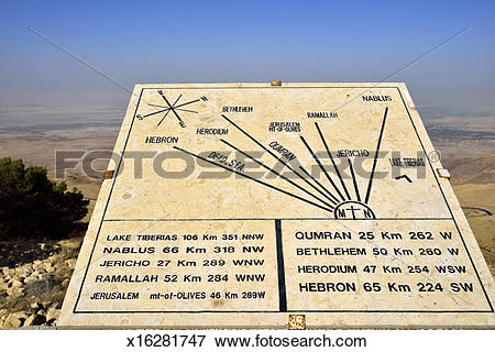 Picture of View from Mt. Nebo. Madaba, Jordan x16281747.