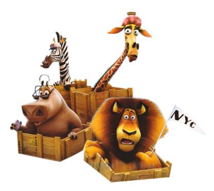 Madagascar movie clipart.